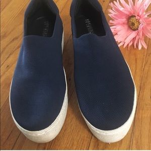 Opening Ceremony navy blue platform sneakers